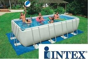 NEW INTEX RECTANGULAR ULTRA FRAME POOL SET - 131549249 - 18ft x 9ft x 52in