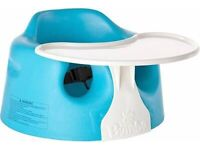 Bumbo seat with tray - blue and white
