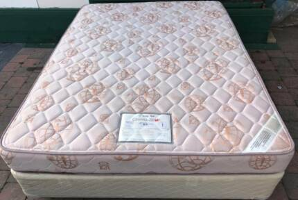 Excellent King Koil Brand Queen bed base with mattress. Delivery