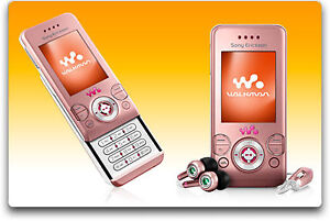 Sony Ericsson W580i (Pink) Cell Phone Mobile Phone