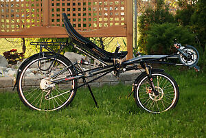 2010 Oracle Omega Tour recumbent road bicycle for sale.