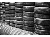 *** large number of part worn tyres ***