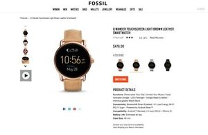 Fossil Q Wander Smartwatch Blackburn North Whitehorse Area Preview