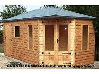 CORNER SUMMERHOUSES / BUILDING/SHED/STORAGE/WORKSHOP/GARAGES/BUILDERS OF CORNER SUMMERHOUSES