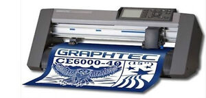 "Graphtec CE6000 15""  vinyl cutter plotter contour cut heat press"