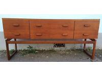 1960s G Plan Quadrille Sideboard/Dressing Table. Rare Design. Vintage/Retro/Mid Century