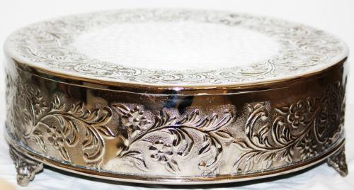 16 inch silver round wedding cake stand 16 quot cake stand ebay 10058