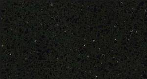 2100x600 quartz stone kitchen benchtop sparkly black Clayton Monash Area Preview