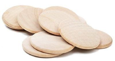 Round Wood Plaque (Wood Circles Round Disc Unfinished Wood Cutouts Ornament Craft Project)