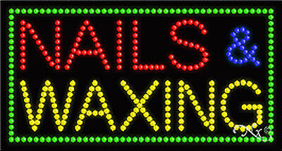 New Nails Waxing 32x17x1 Solidanimated Led Sign Wcustom Options 21098