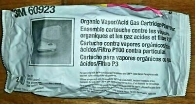 3M60923-Organic Vapor/Acid Gas-2 Pack/1Pair -Ships from Connecticut Exp 2025