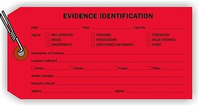 Evidence Identification Tag, 100 Tags / Pack, 6.25