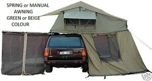 NEW-ROOF-TOP-TENT-CAMPER-RIPSTOP-TRAILER-ROOFTOP-TENT-2-5-M-AWNING-NET-MSQ