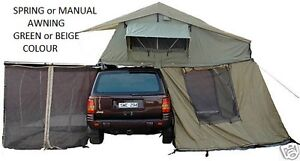 NEW ROOF TOP TENT.CAMPER . RIPSTOP.TRAILER.ROOFTOP TENT .2.5 M AWNING + NET  MSQ