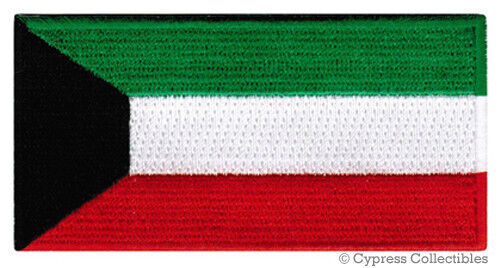 KUWAIT FLAG embroidered iron-on PATCH ARAB EMBLEM new MIDDLE EAST Souvenir Sheik