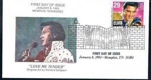 1993-Elvis-Presley-First-Day-Cover-FDC-Love-Me-Tender-Memphis-Collectibles