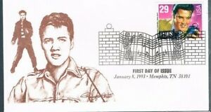 1993-Elvis-Presley-First-Day-Cover-FDC-Brown-Glen-Cachet-Memphis-Tennessee