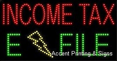 Income Tax E File High Impact Eye-catching Led Sign