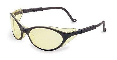 Uvex Bandit Safety Glasses - Black Frame With Amber Lens
