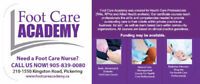 5 Day Nursing Foot Care Courses Available