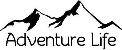 Adventure Life with mountains vinyl decal/sticker camping hiking outdoors woods