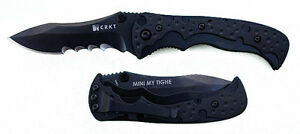 Columbia River CRKT Mini My Tighe Knife Black 1093K New