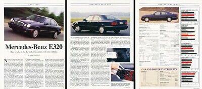 1996 Mercedes Benz E320 Sedan Original Review Report Print Car Article K81 - Mercedes Benz E320 Review