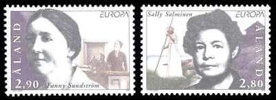 Aland 1996 Europa, Women, Writer Salminen, Politician Sundstrom, MNH / UNM