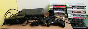 X-Box 360 Console, Controllers and 15 Games $230