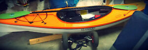 Seaward Kayak (Intrigue) 10ft- Orange and White with a window.