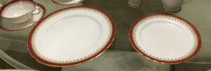 Aynsley Durham-Maroon 28 piece Bone China