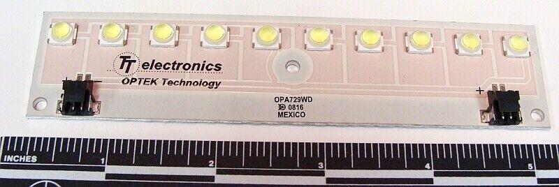 10 Watt WHITE LED ARRAY LIGHT BAR OPTEK OPA729WD cree luxeon lumileds leds