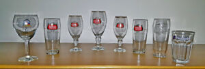 COLLECTION OF BELGIUM BEER GLASSES
