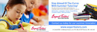 Summer Tutoring at Expert Tutors.  Register With the Best!