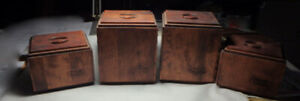 WOODEN CANISTER SET  1982