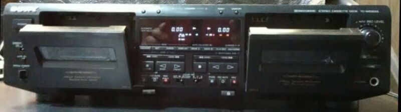 Vintage Sony TC-WE805S Pro-grade Dual Tape Deck With Pitch Control works great
