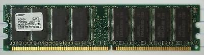 Samsung 512MB PC2100 DDR-266MHz Non-ECC 184-pin DIMM * M368L6423DTL-CBO Plastic