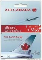AIR CANADA GIFT CARD carte cadeau 1200$ a vendre for sale 800$