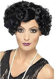 ROARING 20s GREAT GATSBY BLACK FANCY DRESS WIG ALSO HAVE OUTFITS FOR SALE