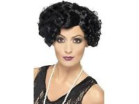 ROARING 20s BLACK FANCY DRESS WIG GREAT FOR PARTY OR HEN DO ALSO HAVE OUTFIT FOR SALE
