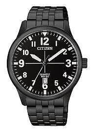 Citizen Men's Quartz Stainless Steel Casual Watch, Color:Black   BI1055-52E