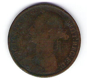 Coin 1884 Great Britain 1 Cent Penny
