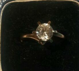 9 Carat Gold Ring Solitaire Hallmarked