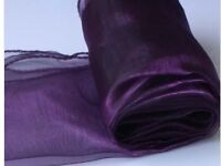 purple table runner or for back of chairs