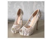 Beautiful Wedding shoes WORN ONCE