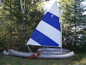 """Grumman canoe """"C"""" Class Spars and Sail"""