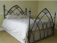 gothic cast iron bed frame queen sized bed