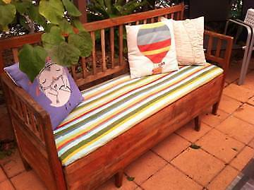 Antique Scandanavian Garden Bench/Storage Seat