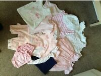 0-3 month girls clothing bundle