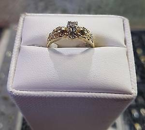Diamond Ring 10k gold $225 & we have over 1000 rings to choose